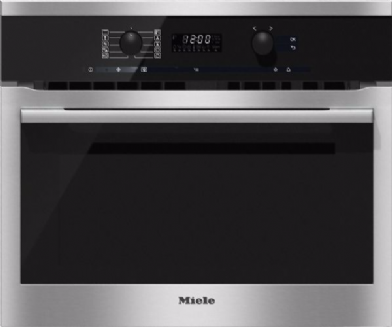 MIELE H6100 BM Oven with microwave | Electronic clock/timer  | Clean Steel